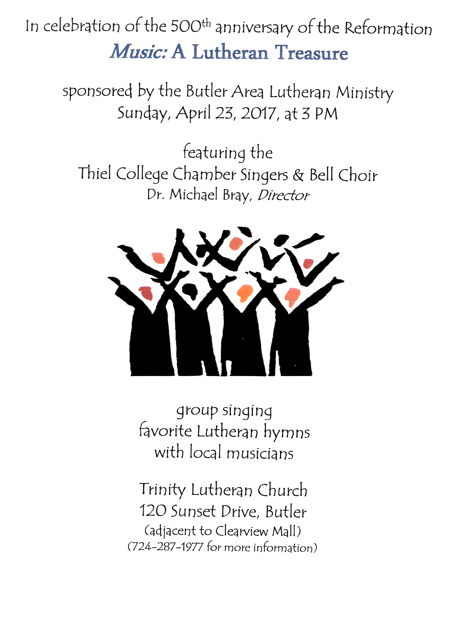 Thiel College Singers and Bell Choir